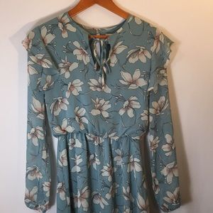 Charles Henry Long Sleeve Floral Dress Size XS